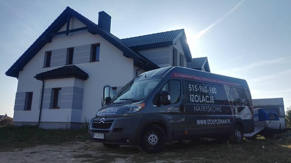 Izolacja poddasza, stropu w miejscowości Krzyszkowo, Izolacje Natryskowe