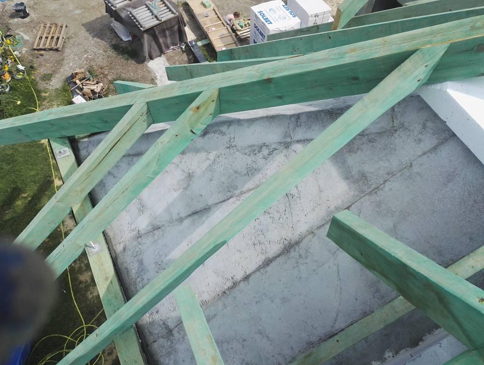 Izolacja Skosów Betonowych Pianką PUR, Daszewice
