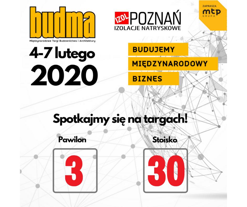 Budma 2020 Targi Budownictwa i Architektury
